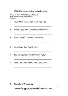 Grammar worksheets 15