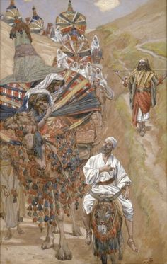 Rebecca Meets Isaac by the Way James Tissot
