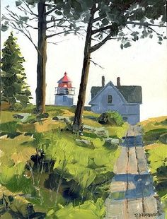 Paul Norwood: Ah, I really like this painting. It's airy and inviting. Note by Roger Carrier