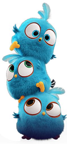 Jay, Jake, and Jim are so cute in the Angry Birds Movie