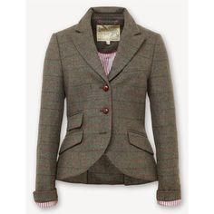 Jack Wills Austerberry Blazer featuring polyvore, women's fashion, clothing, outerwear, jackets, blazers, blazer jacket, brown blazer, jack wills jacket, jack wills blazer and brown jacket