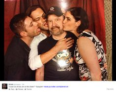 """"""" Could we all just kiss Jim on the cheek """" DallasCon2014 photo op :D"""