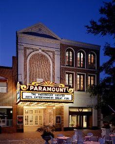 The historic Paramount Theater on the downtown mall in Charlottesville, VA