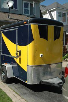 Michigan wolverines tailgating trailer #ultimatetailgate #fanatics