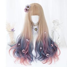 Fashion Lolita Pink Pastel Wig - Trend Topic For You 2020 Kawaii Hairstyles, Pretty Hairstyles, Wig Hairstyles, Fantasy Hairstyles, Cosplay Hair, Cosplay Wigs, Pastel Wig, Kawaii Wigs, Lolita Hair