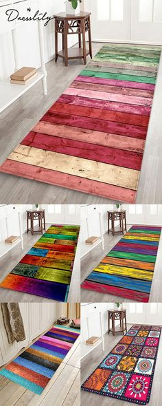 Vintage Colorful Color Wood Grain Print Floor R Decor, Garden Furniture Inspiration, Diy Furniture, Buying Rugs Online, Diy Garden Furniture, Home Decor, Rug Shopping, Rugs Online, Diy Outdoor Furniture