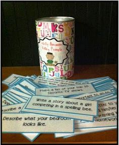 [Writing Prompts] If your students don't know what to write about, they can go choose a prompt from the jar.