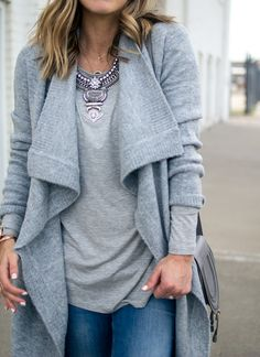How to style a long cardigan //