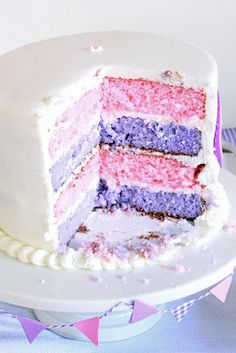 Pink and Purple cake - Great for Doc McStuffins birthday - inspiration