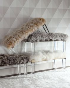 Alala Sheepskin Bench by Massoud at Neiman Marcus.