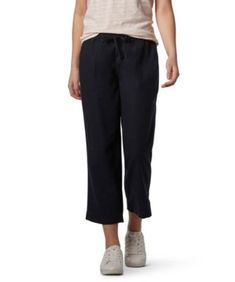 New Womens White Linen NEXT Crop Trousers Size 6