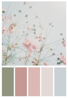 Dirty Pastels would be cute pallet for a wedding