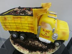 Dump Truck Birthday Cake
