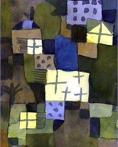 With Yellow Windows © Paul Klee