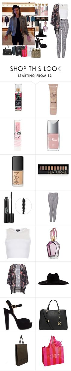 """Shopping in Japan W/ Harry"" by sarastyles-362 ❤ liked on Polyvore featuring Forever 21, Too Faced Cosmetics, The Body Shop, Christian Dior, NARS Cosmetics, Sephora Collection, Topshop, Pull&Bear, Filù Hats and Steve Madden"