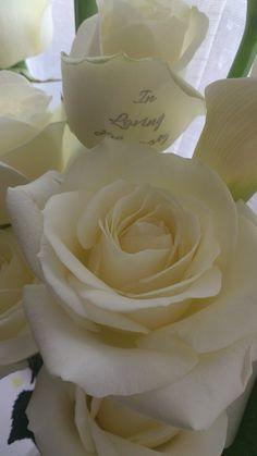Personalised Memorial Flowers.