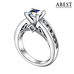 Genuine 925 Classic Sterling Silver Ring Princess Cut Wedding Ring Jewelry Finger Lover Promise Fashion Jewelry Engagement Band