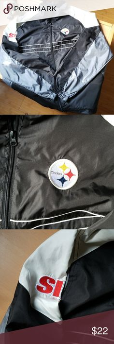 Pittsburg Steelers windbreaker size large Great condition, nice light weight fabric. Mens size large. Reebok Jackets & Coats Windbreakers