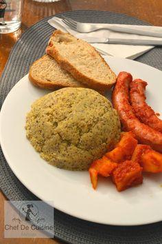 Salsiccia in umido con polenta Polenta, Cornbread, Ethnic Recipes, Blog, Kitchens, Corn Bread, Sweet Cornbread