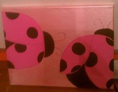 Ladybug Hand Painted Wall Art by alliegirl97 on Etsy, $20.00
