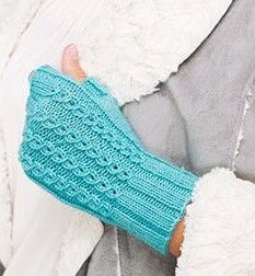 Free knitting pattern for Faux Cable Mitts and more wrist warmer knitting patterns