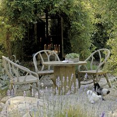 Who can resist faux bois?  I cannot!  BYRON & WALDEN by JANUS et Cie