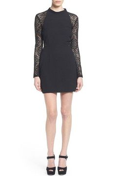 ASTR Lace Inset Minidress available at #Nordstrom
