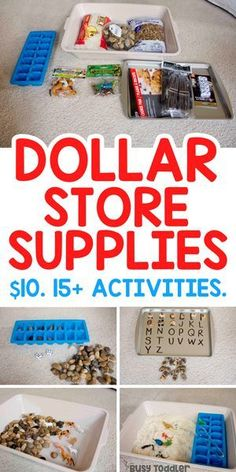 Dollar Store Activity Supplies You Need to Buy - Busy Toddler - Dollar Store Activity Supplies - Indoor Activities For Toddlers, Activities For 2 Year Olds, Toddler Learning Activities, Games For Toddlers, Infant Activities, Quiet Time Activities, Teaching Toddlers Letters, Preschool Literacy Activities, 3 Year Old Preschool