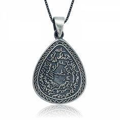 Gümüş Kıtmir Duası Damla Kolye