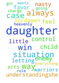 "I Need Your Help, Lord ! -  	Please, prayer warriors, will you please be in agreement with me on letting the person in charge of my daughter's case be� little more understanding....she is self-centered and always wants to be in control and acts (To me) like as a child she always got her way an I feel that is playing a role in how nasty she is treating my daughter's case! Please Lord, lay Your Precious Hands On My daughter's situation and let her win !.....LET ""NO weapon formed against her…"