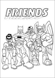 Tegninger til Farvelægning Super Friends 3