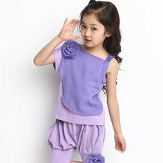 Online Shop 2014 verão novas crianças atender crianças meninas big virgem sólidos meninas conjuntos de roupas roupa dos miúdos da princesa|Aliexpress Mobile