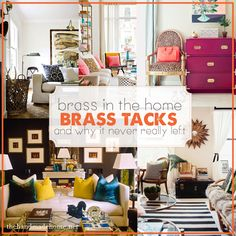 brass in the home | the handmade home