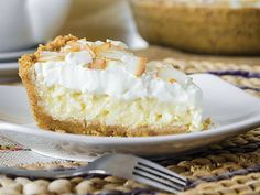 Coconut Cream Pie: With a graham-cracker crust and toasted coconut sprinkled on peaks of whipped cream, this pie is a winner from bottom to top