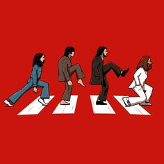 T-shirt Beatles parodié avec les Monty Python - Abbey Road Abbey Road, The Beatles, Beatles Art, John Lennon, Monty Python, Arte Pop, Band Posters, Paul Mccartney, Caricature