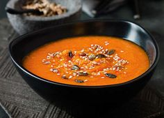 A vibrant butternut squash and red pepper soup recipe that gives a big punch of hearty flavours this autumn. Follow the recipe at Sainsbury's