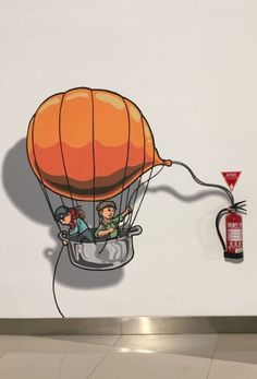 15 Fun Fire Extinguisher Decal That Makes You Go Wow – HomelySmart - wood design Art Mural, Wall Murals, Wall Art, Office Interior Design, Office Interiors, Design Offices, Modern Offices, Bar Deco, Wall Drawing
