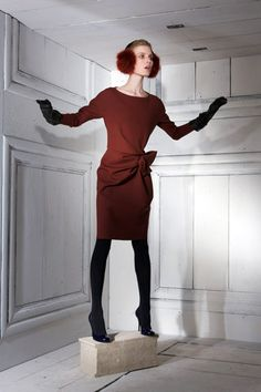 look 39 of Lanvin pre-fall 2010, that Giovanna Bataglia was wearing...