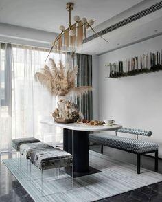 430㎡合肥万科森林公园D6户型别墅   LSD Living Room Interior, Kitchen Interior, Kitchen Decor, Dining Area Design, Dinner Room, Living Styles, Minimalist Interior, Furniture Design, Interior Design