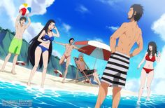 Commission - A day at the beach by dannex009.deviantart.com on @DeviantArt