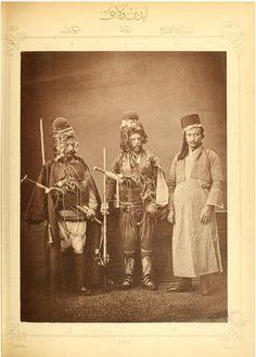 The original Photograph by Pascal Sebah  of two Zeibeks or Bashi Bazouks