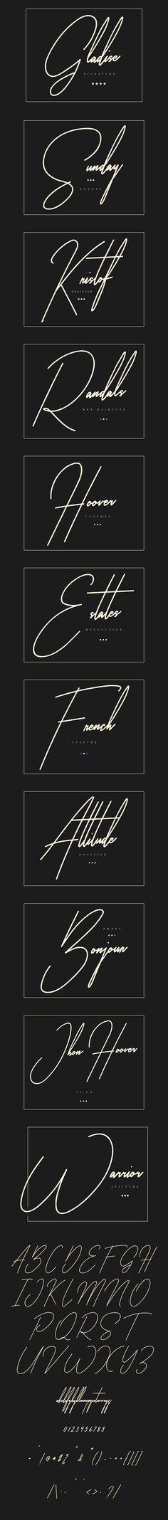 Gladise Signature Typeface
