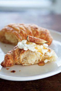 Croissant, ricotta, honey and fig.