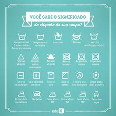 Você sabe o significado de todos os símbolos da etiqueta de sua roupa? Sem problemas, a eduK te ensina cada um!