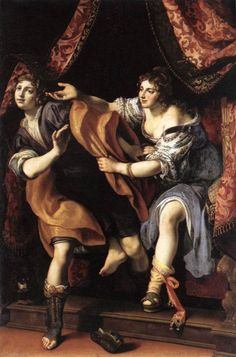 Joseph and Potiphar's Wife - Ludovido Cigoli 1610 Chopines