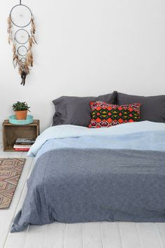 4040 Locust Chambray Fade Duvet Cover #urbanoutfitters