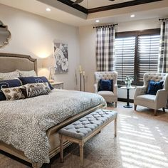 33 Farmhouse Rustic Master Bedroom Ideas For You ⋆ All About Home Decor Master Suite Bedroom, Master Room, Master Bedroom Makeover, Royal Bedroom, Bedding Master Bedroom, Mirror Bedroom, King Bedroom, Bedroom Lighting, White Bedroom