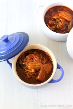 Slow Cooker Kimchi Stew with Beef - My Korean Kitchen