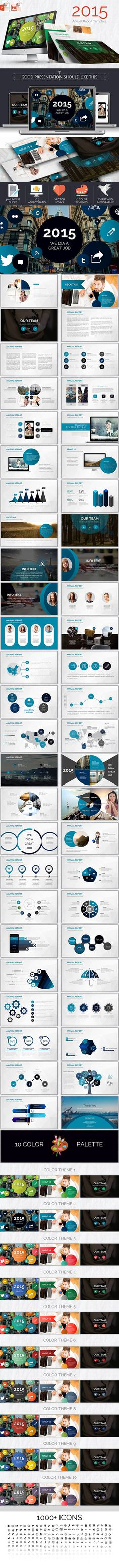 2015 anual powerpoint report Template #design #slides Download: http://graphicriver.net/item/2015-anual-powerpoint-report/12475796?ref=ksioks