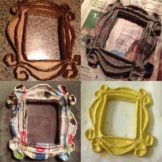 Recycled Paper Crafts, Paper Mache Crafts, Handmade Crafts, Diy And Crafts, Friends Cake, Friend Crafts, Cardboard Sculpture, Diy Tumblr, Idee Diy
